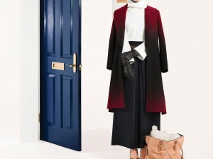The Hideaway Coat, Shadow, $365 Mrs. Flute Knit, Ivory, $165 The Wallis Culotte, Midnight, $225